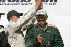 Podium: champagne shower for Paul Gentilozzi