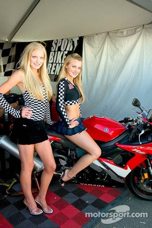 The girls of Sport Bike Rentals say