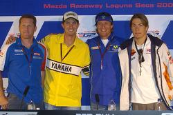 Kenny Roberts Jr., Colin Edwards, Sete Gibernau, Nicky Hayden
