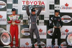 Podium: race winner Antoine Bessette with David Martinez and Andreas Wirth