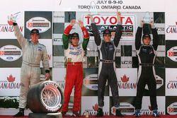 Podium: race winner Antoine Bessette with David Martinez, Andreas Wirth and C2 class winner Justin S