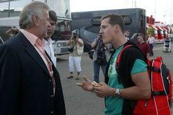 Willi Webber y Michael Schumacher