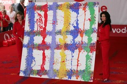 Vodafone event at Hockenheim Talhaus: Michael Schumacher and his artwork