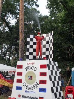 A Michael Schumacher dummy