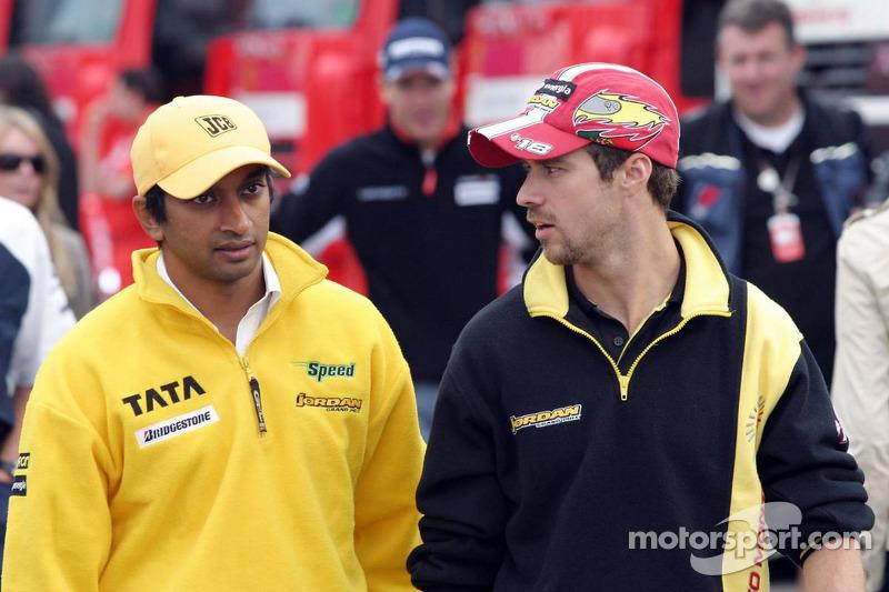 Narain Karthikeyan and Tiago Monteiro at German GP 5c92efb209c9