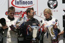 P2 podium: class winners Clint Field and Liz Halliday