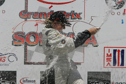 P2 podium: champagne for everyone