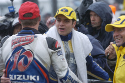 2. Kenny Roberts Jr., Suzuki; 3. Alex Barros Pons Honda