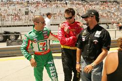 Tony Kanaan, Bryan Herta and Michael Andretti