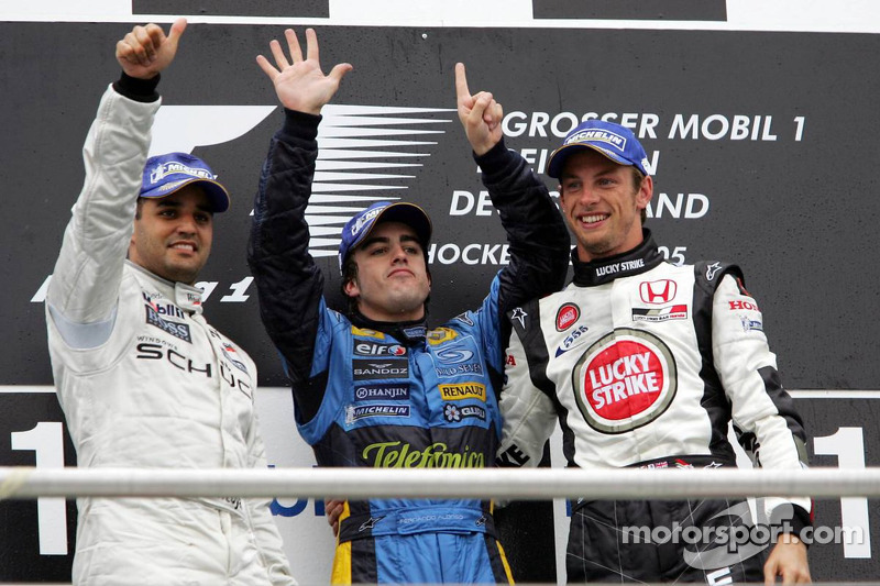 12. Juan Pablo Montoya, McLaren-Mercedes: del 20º al 2º en el GP de Alemania 2005