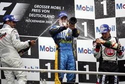 Podium: 1. Fernando Alonso 2. Juan Pablo Montoya, 3. Jenson Button
