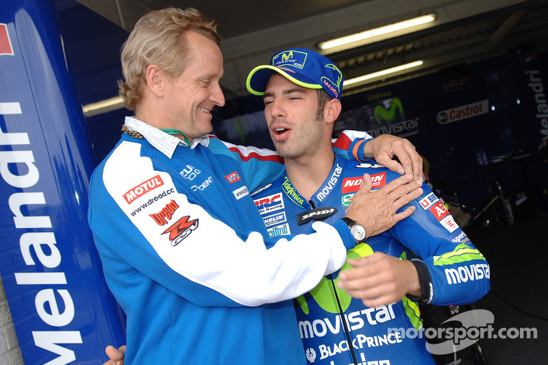 Marco Melandri, Honda, mit Kevin Schwantz