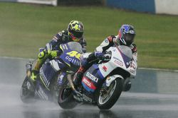 Kenny Roberts y Valentino Rossi