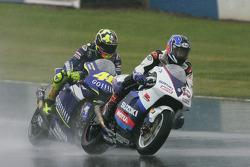 Kenny Roberts Jr., Suzuki; Valentino Rossi, Yamaha