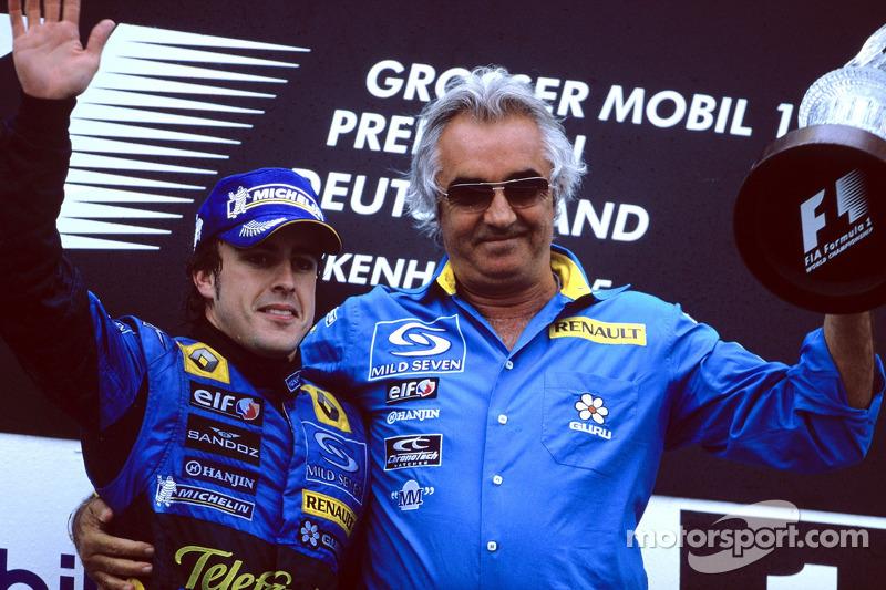 18- Fernando Alonso, 1º en el GP de Alemania 2005 con Renault