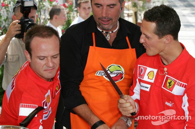 Evento Vodafone en el Intercontinental hotel: Michael Schumacher y  Rubens Barrichello