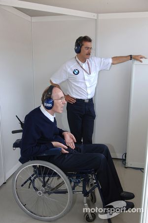 Frank Williams et le Dr Mario Theissen