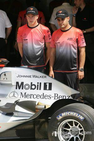 Patrocinio de Johnnie Walker en el McLaren: Kimi Raikkonen y Juan Pablo Montoya