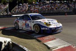 #24 Alex Job Racing Porsche 911 GT3 RSR: Darren Law, Ian Baas