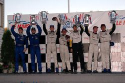 GT1 podium: class winners Oliver Gavin and Olivier Beretta, with Ron Fellows and Johnny O'Connell, a