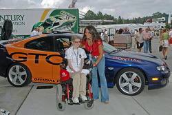 Milka Duno and Katherine Shelton with Grand Amercan Pace Car