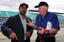 His Highness Sheikh Maktoum Hasher Maktoum Al Maktoum CEO A1 Grand Prix talks with John Surtees