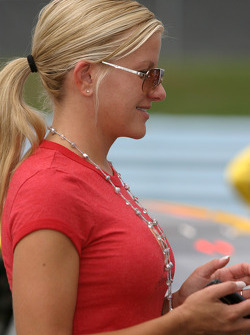 Girlfriend of Kurt Busch, Eva Bryan