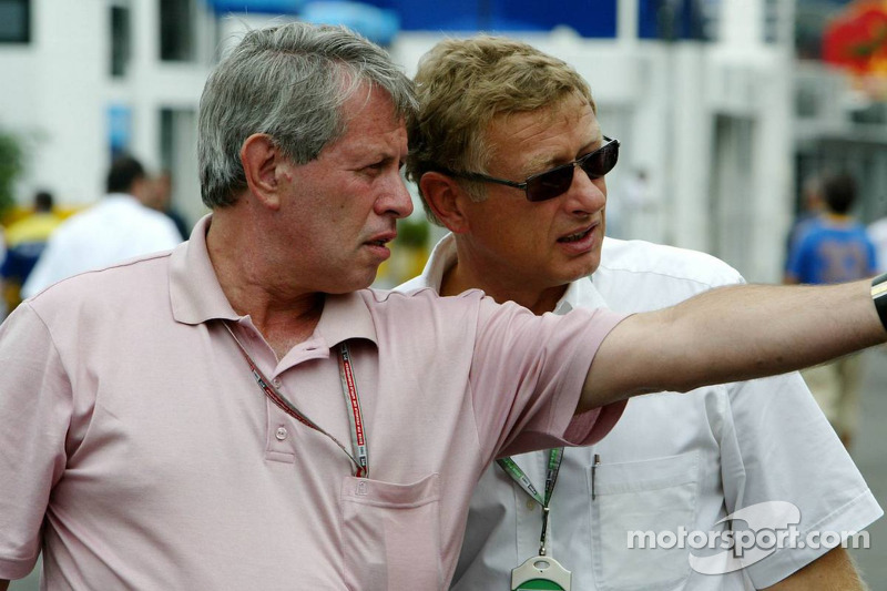 F1 circuit designer Herman Tilke and Turkish GP promoter Thomas Frank