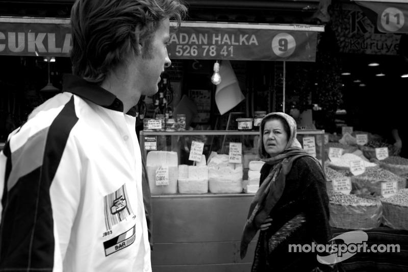 Visit of Istanbul: Jenson Button at Turkish GP