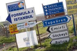 Указатель Формулы 1 в Стамбуле