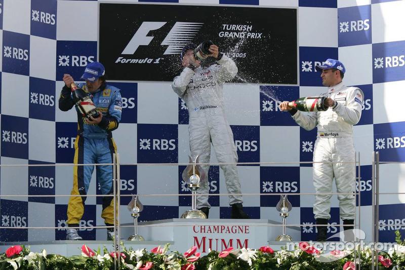 Подиум: 1. Кими Райкконен, 2. Фернандо Алонсо, 3. Хуан-Пабло Монтойя