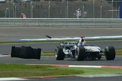 Mark Webber après son accrochage avec Michael Schumacher