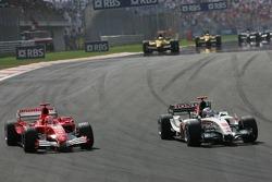 Michael Schumacher et Jenson Button
