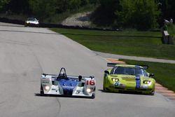 #16 Dyson Racing Team Lola EX257 AER: James Weaver, Butch Leitzinger, #5 Pacific Coast Motorsports C