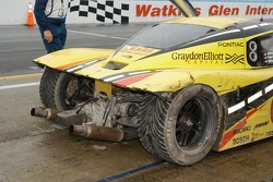 What is left of the #6 after the crash