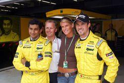 Narain Karthikeyan, Johnny Herbert ve Tiago Monteiro