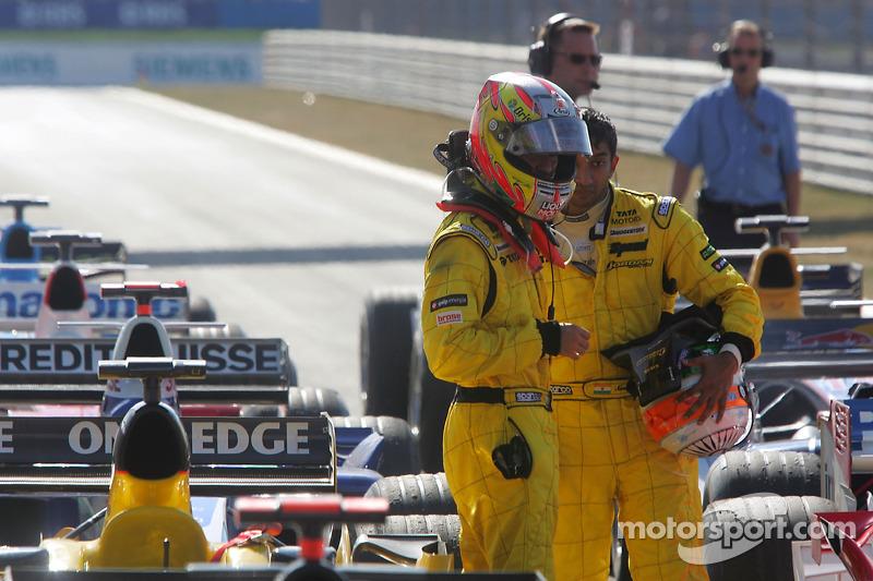 Tiago Monteiro et Narain Karthikeyan
