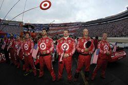 Target crew during National Anthem