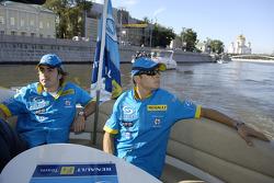 Fernando Alonso ve Giancarlo Fisichella