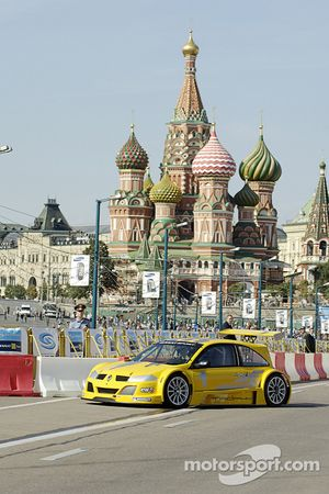 Renault Megane Sport demonstration runs streets, Moscow