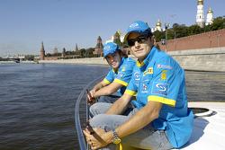 Fernando Alonso and Giancarlo Fisichella