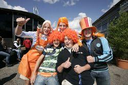 Des fans à Zandvoort