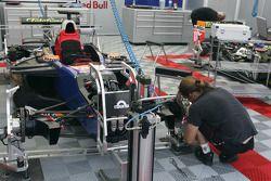Racing Engineering team members at work