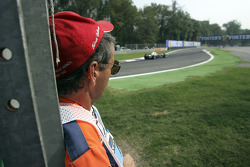 Course marshal at work