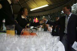 The champagne reception