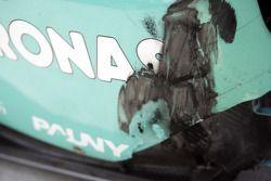 Damage on a DAMS car