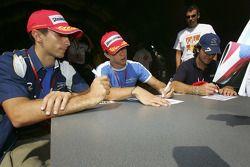 Autograph session: Ferdinando Monfardini, Clivio Piccione and Giorgio Pantano