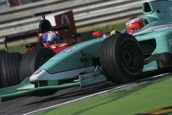 Jose Maria Lopez and Toni Vilander crash at the chicane