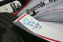WAA sticker on the car of Nico Rosberg