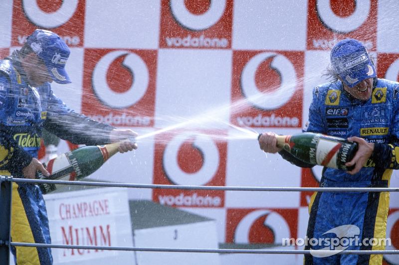20- Fernando Alonso, 2º en el GP de Italia 2005 con Renault
